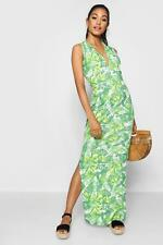 Boohoo Womens Plunge Front Jersey Maxi Dress