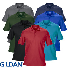 Gildan HOMBRE Polo Deporte Tennins Golf Performance pro Transpirable Top S-3XL