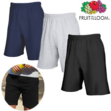Fruit Of The Loom UOMO Shorts Sport Leggero Pile Cotone Tasche Waistabnd