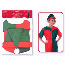 Elf Adult Mens&Womens Christmas Xmas Santa's Little Helper Fancy Dress Costume