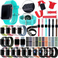NEW For Apple Watch 3/2/1 38mm 42mm Replacement Silicone/Nylon Sport Band Strap
