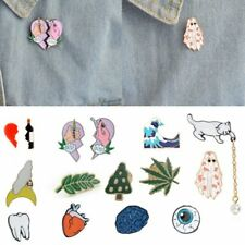 Cute Cartoon Cactus Cat Girl Enamel Collar Pins Badge Corsage Brooch Jewellery