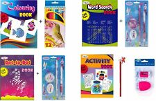 A4 Kids Word Search/Coloring/Activity/Dot to Dot Book + Free Gift With Each Book
