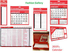 2019 Desk Hanging Wall Large Month to View  Easy View Calendar Planner  - Slim