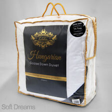 Hungarian Duvet Goose Feather and Down Luxurious Quilt King Bed Size 15 Tog