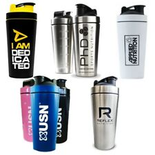 Stainless Steel Metal Protein Shaker Bottle Cups - Strong Stylish & Durable