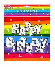 Pack of 20 Funky Happy Birthday Party Serviettes Kids Party Decoration Accessory