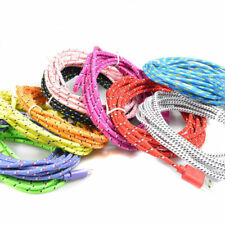 Strong Fabric Braided Micro USB Charger Cable Data Sync Lead fits SAMSUNG Galaxy