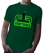 Uomo Freestyle T-Shirt Calcio, 100% Pettinati Ring Spun Cotone