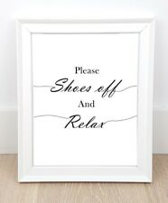 Shoes off sign Remove shoes sign Take off your shoes Entryway, Home decor - JPG