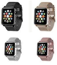 For Apple Watch Buckle Strap Band 38/42mm Series 1 2 3 Stainless Steel Bracelet