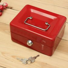 Safe Security Steel Cash Box Lock Tray Holder Metal Petty Money Bank Deposit Box