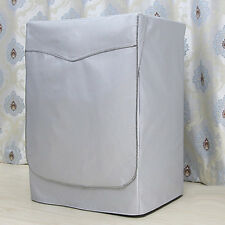 Silver Oxford cloth Protective Cover for Washing Machine Anti Dust Sunscreen