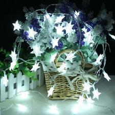 LED Battery Operated Star Shaped String Light Wedding Christmas Party Lamp