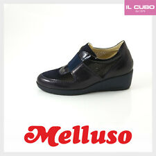 MELLUSO SNEAKERS DONNA COLORE BLU ZEPPA H 4 CM MADE IN ITALY