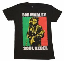 New Officially Licensed Bob Marley Soul Rebel Color Block T-Shirt