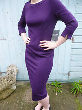 BNWT Pure Collection rich purple ponte fitted wiggle dress 8 10 12 14 16 18
