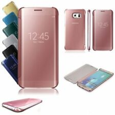 New! Samsung Galaxy S6 S7 S8 S9 and Plus Note 8 Clear View Mirror Case Cover