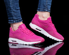 Wmns Nike Air Max 1 Ultra Moire Chaussures de Sport Basket Top Rose 704995-601