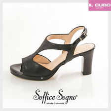 SOFFICE SOGNO SANDALO DONNA COLORE NERO TACCO H 7,5 CM NEW SHOES MADE IN ITALY