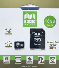 MicroSD 16Gb with SD Adapter High Capacity Memory for Cameras and Phones Class10