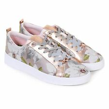 Ted Baker Women's Ahfiraj Jaquard Textile Lace Up Trainer Chatsworth Nude