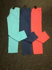 NEW Bundle Boys Cotton 3 x Trousers Chinos Age 6 to 13 Years Blue Red