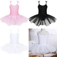 Girls Kids Ballet Dance Dress Leotard Tutu Skirt Ballerina Party Dancing Costume