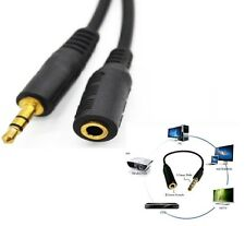 Gold Plated 3.5mm Stereo Jack Plug to Socket Aux Headphone Audio Extension Cable