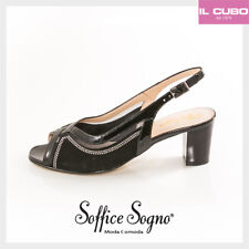 SOFFICE SOGNO SANDALO DONNA COLORE NERO TACCO H 6 CM  SHOES MADE IN ITALY