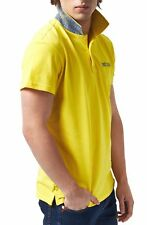 Polo Just Cavalli Uomo Men Homme T-shirt 100% Cotone colletto contrasto giallo