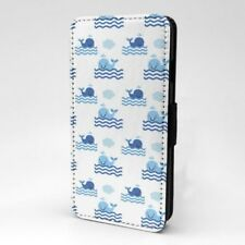 Bonito Ballenas Diseño Estampado Funda Libro para Apple Iphone - P956