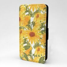 Girasol Diseño Estampado Funda Libro para Apple Iphone - P872