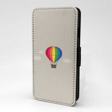 Arcoiris Globo Diseño Estampado Funda Libro para Apple Iphone - P1015