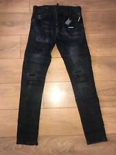 DSQ2 - DSQUARED JEANS SLIM FIT  -BLACK PATCHWORK / BADGE      ** SEE SIZES