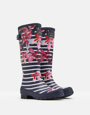 Joules Welly Stampa Donna dietro Regolabile Wellington - Blu Francese Chesnu