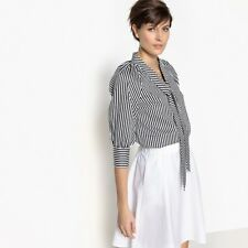 La Redoute Collections Donna Camicetta Lavalliere A Righe, Maniche A 34