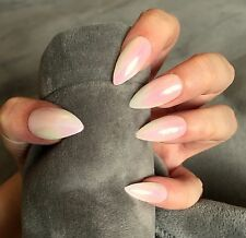 FALSE NAILS - Iridescent French Ombre, Mermaid - Stick On - The Holy Nail