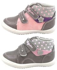 NEW BABY GIRLS LEATHER LINED TRAINERS FIRST WALKING SHOES STRAPS ANKLE BOOTS UK