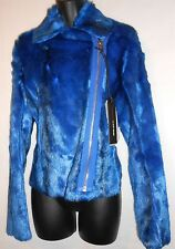 NEW Miss Sixty Electric Blue Faux Fur Jacket RRP £239