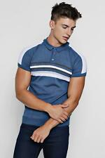Boohoo Mens Colour Block Knitted Polo
