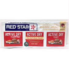 Active Dry Yeast Red Star Strip of three 1/4 oz packets  GLUTEN FREE