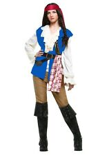 Womens Pirate of The Caribbean Jack Sparrow Fancy Dress Costume Deluxe