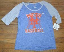 Nuevo York Mets Camiseta Original Major League Mercancía MLB Majestic 3/4 Manga