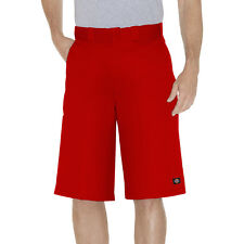 Dickies Rouge Travail Court 42283 33cm Coupe Ample Multi Poche Tailles 30 To 44