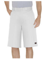 Dickies Blanc Travail Court 42283 33cm Coupe Ample Multi Poche Tailles 30 To 44