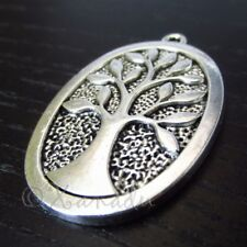 Tree Of Life 38mm Envejecido Dije Baño de Plata Colgantes C7176-2 , 5 Or 10pcs