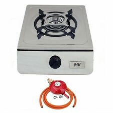 NJ-100SD Compact Indoor 1 Burner Stainless Steel Gas Stove Portable Cooker 4.0kW
