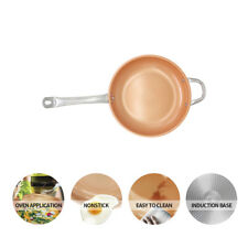 Non-Stick Copper Frying Pans with Induction Base & Dishwasher Compatible