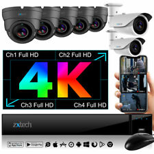 4K UHD 8MP DVR + 7x IP Cam Premium y NightVision 3MP Wide Angle HDR PoE CCTV Kit